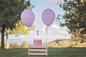 1歳のケーキと風船