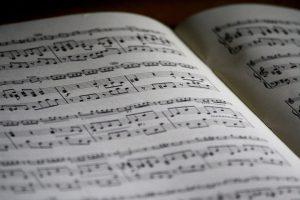 ピアノの譜面