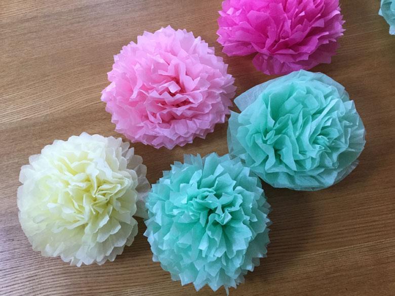 お花紙で作ったお花