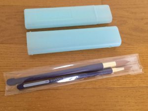 あおば画材セット 筆と筆筒