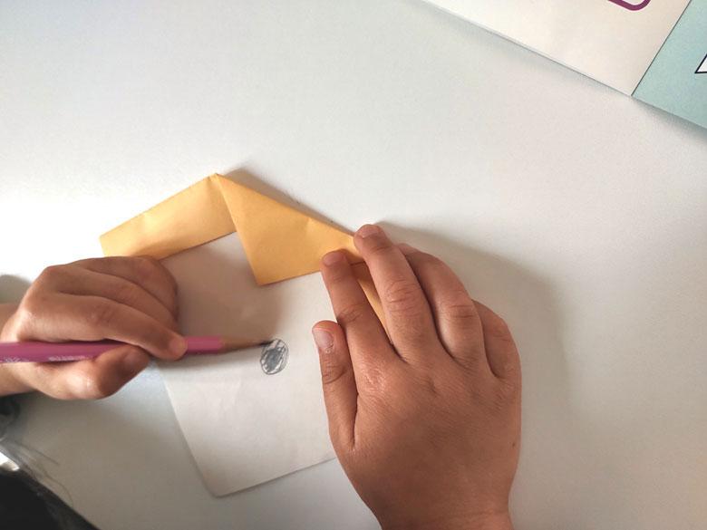 ペーパーラボで作った折り紙