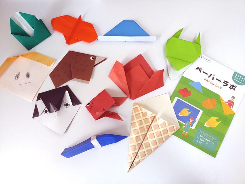 ワンダーボックス体験版ペーパーラボで作った折り紙